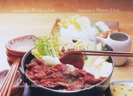 エゾシカ肉鍋