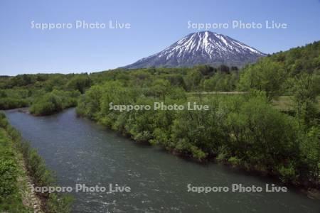 尻別川と羊蹄山